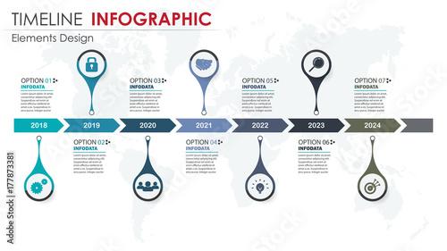 Obraz Vector abstract element timeline infographics. - fototapety do salonu