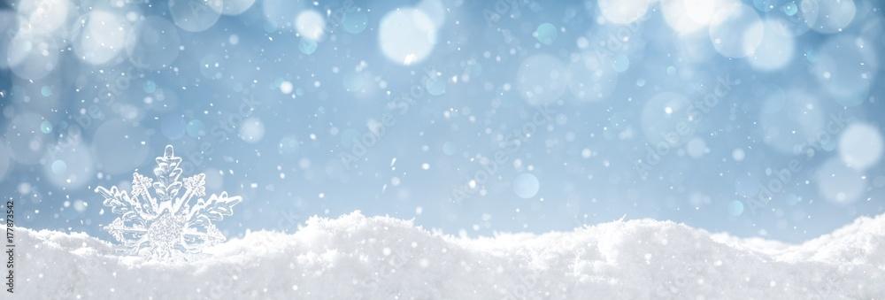 Fototapeta Snowflake on snow