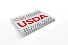 Usda On Newspaper Background