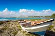 Akumal stranded old boat in Riviera Maya