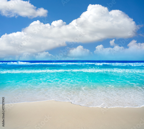 Photo Stands Caribbean Cancun Delfines Beach at Hotel Zone Mexico