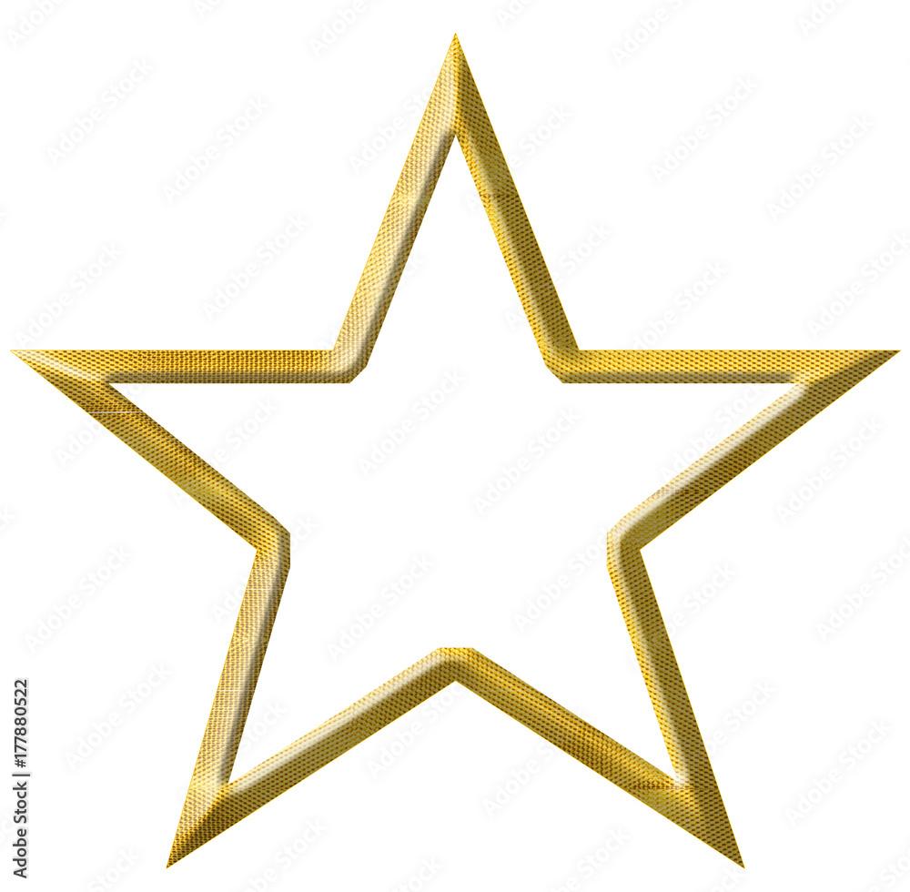 Fototapety, obrazy: étoile d'or, fond blanc