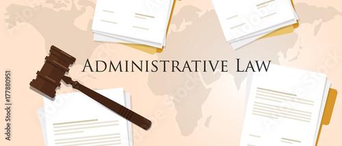 administrative law concept of justice hammer gavel judgment process legislation Canvas Print