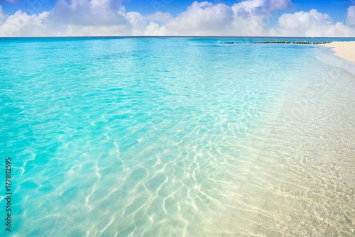 Montage in der Fensternische Karibik Caribbean turquoise beach clean waters