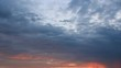 Twilight horizon clouds