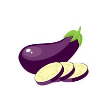 Vegetables. Eggplant, Whole Fr...