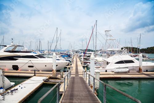 Yachts at Thailand Port