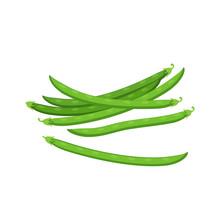 Vegetables. Pods Of Green Bean...