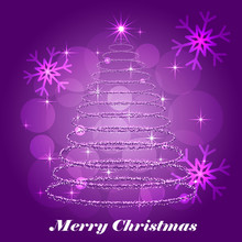 Shining Christmas Tree Winter ...