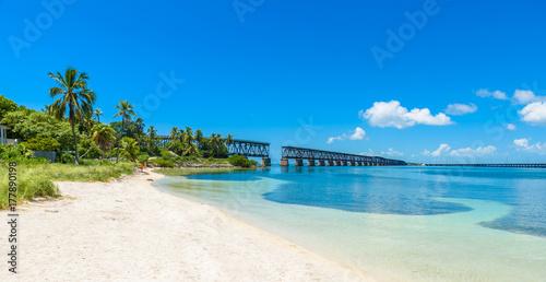 Bahia Honda State Park - Calusa Beach, Florida Keys - tropical coast with paradi Canvas-taulu