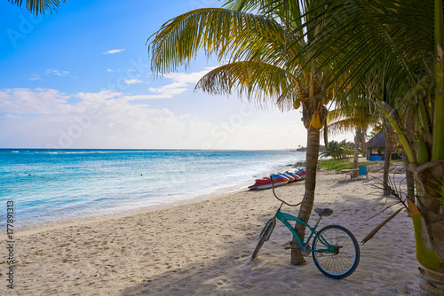 In de dag Los Angeles Mahahual Caribbean beach in Costa Maya