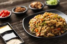 Tasty Japanese Food On Table