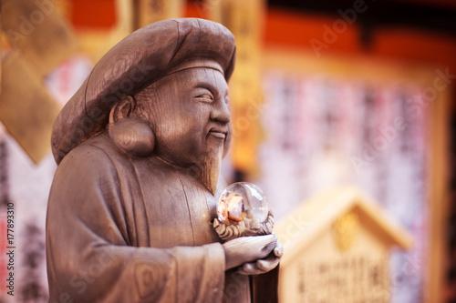 Plakat budda w świątyni tokio