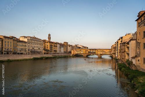 Ponte Vecchio bridge over Arno river in Florence Canvas Print