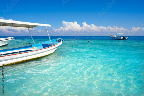 Fotobehang Puerto Morelos beach in Riviera Maya