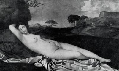 Panel Szklany Erotyka Sleeping Venus (Giorgione, ca. 1510)