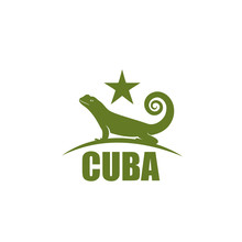 Cuban Curly Tailed Lizard Sign
