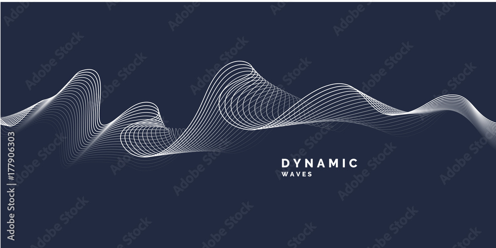 Abstract background with a dynamic waves.
