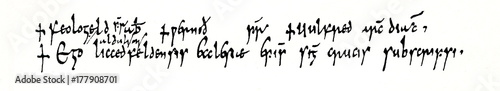 Script of Anglo-Saxon England (part of insular script), 803 (from Meyers Lexikon Wallpaper Mural