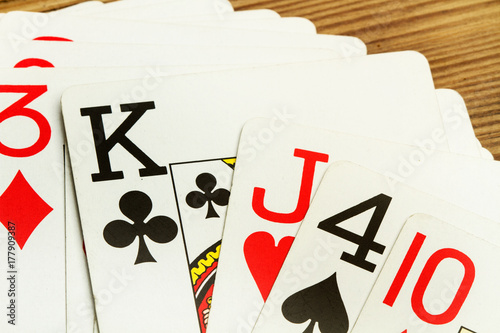 Juego De Cartas Poker Buy This Stock Photo And Explore Similar