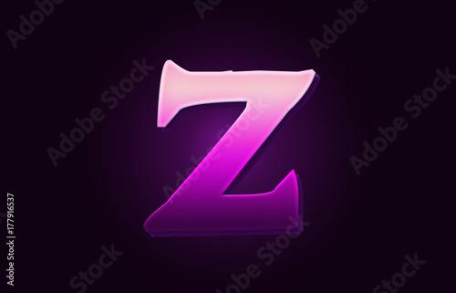 letter Z alphabet 3d text logo icon design - Buy this stock