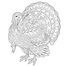 Coloring Page Of Turkey For Th...