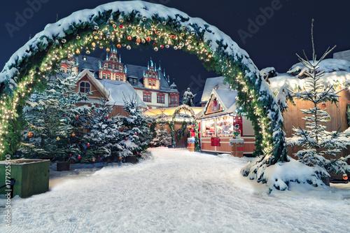 Foto op Plexiglas Kerstmis Christmas market