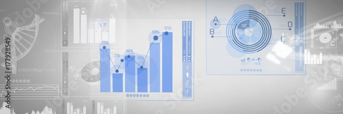 Poster de jardin Buffet, Bar Technology interface diagrams and charts