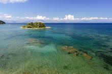 The Small Island Of Pontikonis...