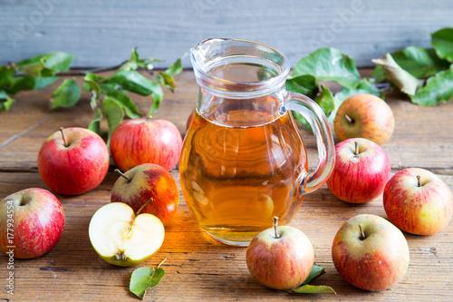 Fototapeta świeży sok jabłkowy