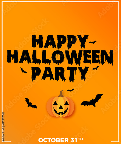 Keuken foto achterwand Halloween Happy Halloween Party Calligraphic Background