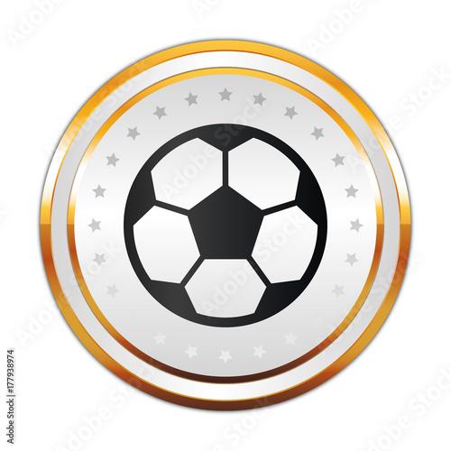 Photo Luxus Button weiß - Fußball