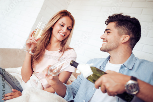 Plakat Romantyczna data