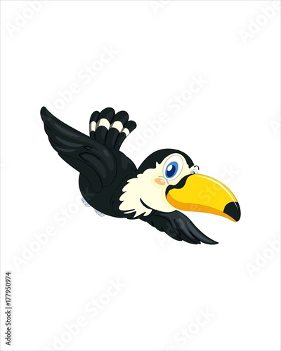 Photo Stands Birds, bees Amazingly beautiful bird toucan-vector drawing