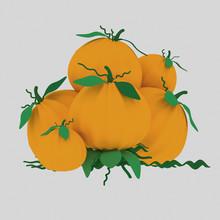 A Pumpkin Heap  Isolate. Eas...