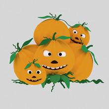 A Crazy Pumpkin Heap  Isolat...