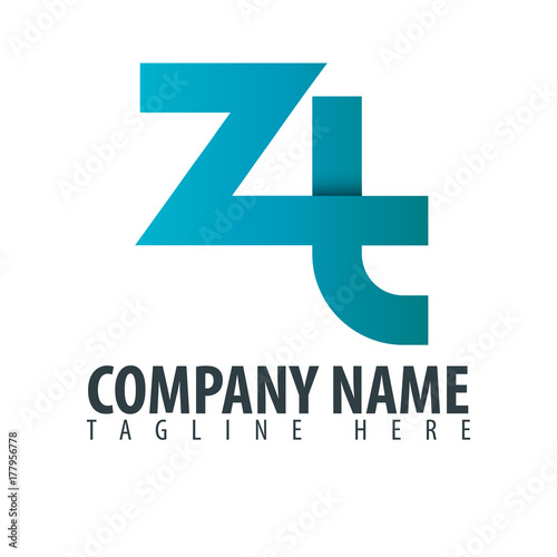 Initial Letter ZT Design Logo - Buy this stock vector and