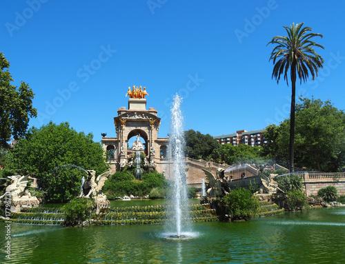 Papiers peints Barcelona View of the fountain in Parc de la Ciutadella, in Barcelona, Spain