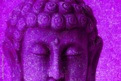 Zdjęcie XXL Fotografia Buddha postać z różowym tłem