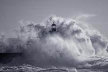 Od Lighthouse Embraced By Stor...