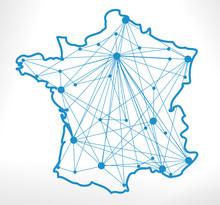 Carte De France Réseau Transport Grandes Villes