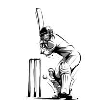 Cricket Player Batsman Front