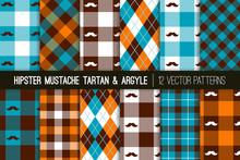 Hipster Mustache Tartan Plaid ...