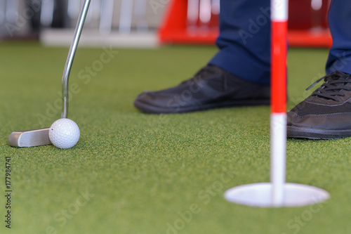 Plakat ćwiczyć w golfa