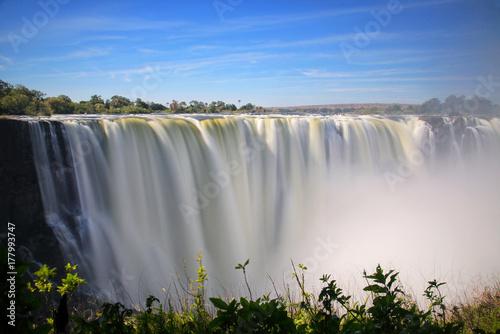Küchenrückwand aus Glas mit Foto Wasserfalle Victoria Falls from Zimbabwe