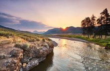 Soda Butte Creek Catches Sun's...
