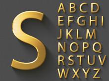 Golden Luxury 3D Alphabet: Upp...