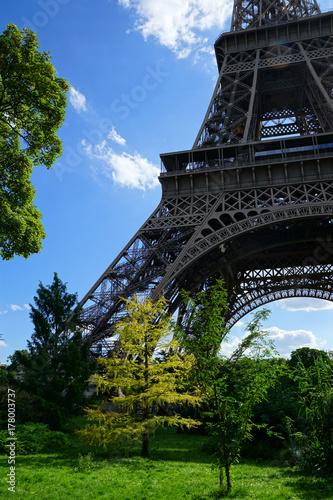 Dans le parc au pied de la Tour Eiffel Poster