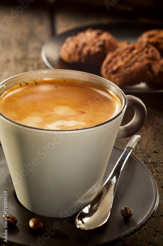 Fotografie, Obraz  Cup of coffee crema in close up view
