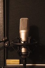 Microphone In Front Of Speaker